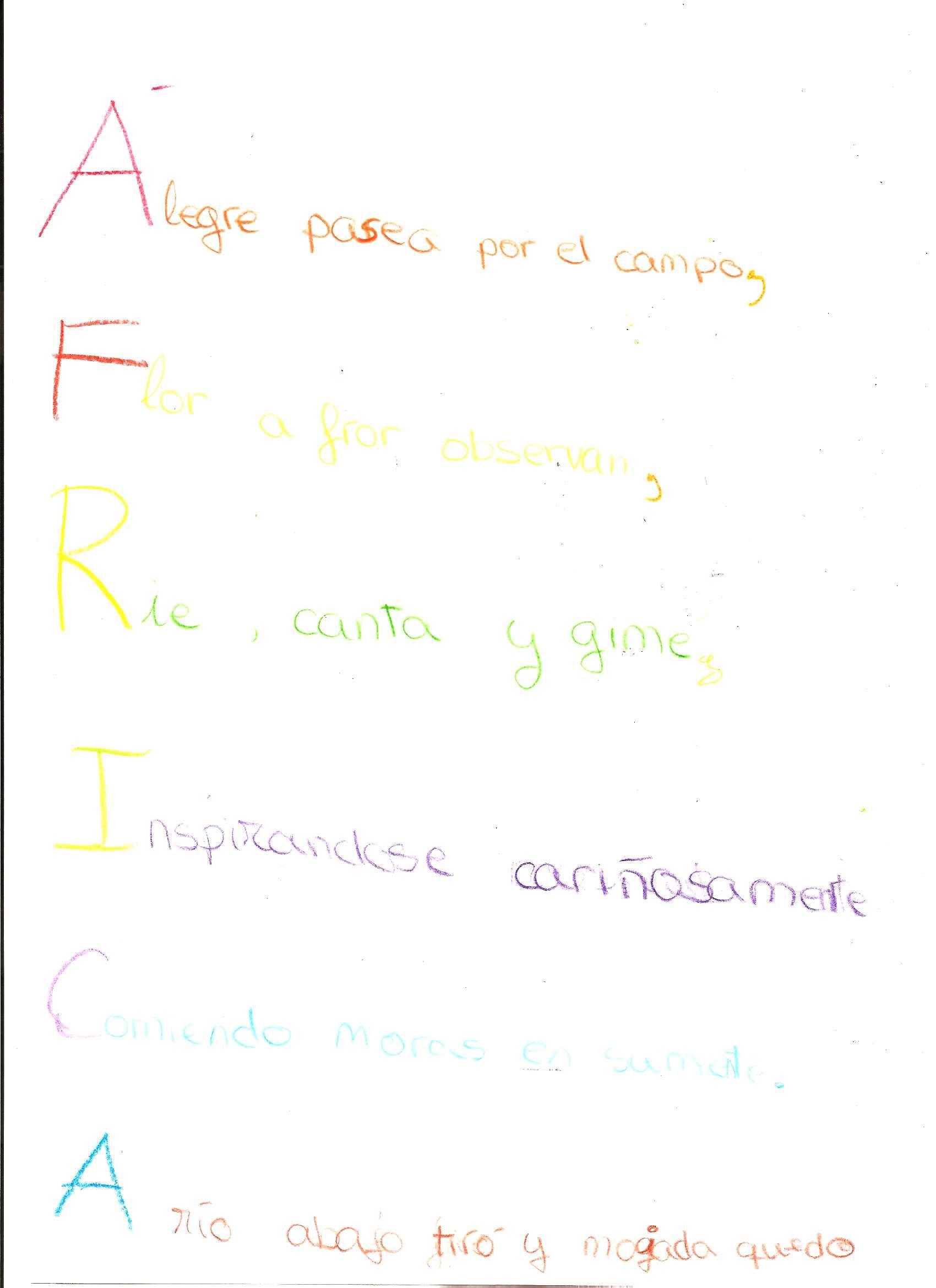 Excepcional Plantilla De Poema Acróstico En Blanco Galería ...
